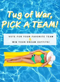 Easiest way for everyone to win a dollar! Tug Of War, A Team, Dreaming Of You, All In One, Cute Outfits, Stuff To Buy, Giveaway, Skirts, Summer
