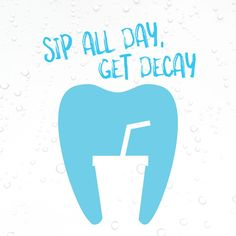 SUGAR FROM SODA combines with the bacteria in your mouth to create acids which can weaken your teeth! Avoid sipping for extended periods of time and try some ice cold water instead! :)