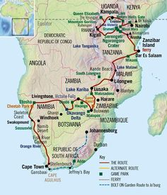 """Absolute Africa"" Overland Safari, Nairobi to Cape Town – - 73 days Victoria Lake, Road Trip Map, Road Trips, Travel Route, Nairobi, Africa Travel, Cape Town, Budget Travel, Where To Go"
