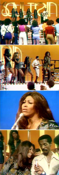 Ike & Tina Turner on Soul Train, April 22, 1972, Tina was very nice, Ike not so nice!! ,I live down the street from there studio in LA!!