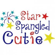 Star Spangled Cutie 6X10 hoop
