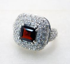 Garnet Gems 92 5 Silver Mood Ring Jewellery Sz 7 SRGAR7 2640 | eBay