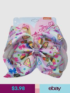 Your fav reality star, JoJo Siwa, has designed a beautiful collection of hair bows. JoJo's bows are as bright and bubbly as JoJo herself. Jojo Hair Bows, Jojo Bows, Girl Hair Bows, Girls Bows, Jojo Siwa Hair, Jojo Siwa Bows, Handmade Hair Accessories, Girls Hair Accessories, Rave Accessories