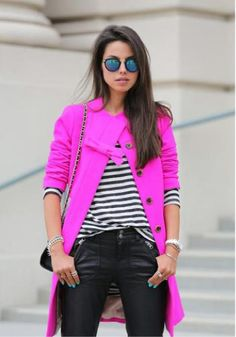 Bright coat inspiration!