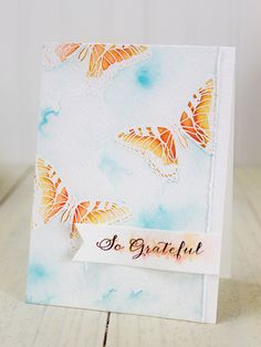 Dawn Woleslagle for Wplus9 featuring Flora & Fauna 1 and Fanciful Feathers stamp sets.