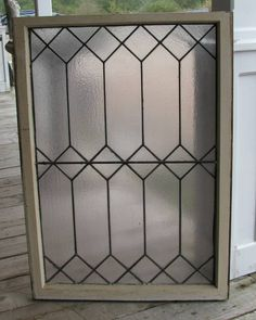 """""""leaded glass window"""" - LOVE this design of window. (except not frosted glass)"""