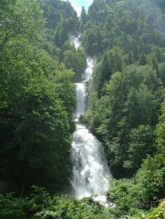 Giessbach Falls, one of the most breathtaking falls I've seen.  Switzerland