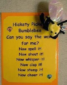 Miss Kindergarten: Chant to practice saying words also