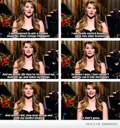 Jennifer Lawrence On Winning The Golden Globe
