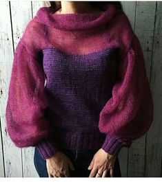 51 Women's Sweaters To Rock Your Winter Style outfit fashion casualoutfit fashiontrends Knit Fashion, Sweater Fashion, Look Fashion, Knitting Designs, Knitting Projects, Mohair Sweater, Knit Jacket, Diy Clothes, Hand Knitting