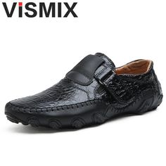 acb4b4cfc52 VISMIX Handmade Genuine Leather Mens Shoes Casual Luxury Brand Men Loafers  Fashion Breathable Driving Shoes Plus