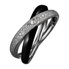 Cartier, HIGH JEWELRY RINGS OF SATURN DÉCOR VISIBLE HOUR WATCH