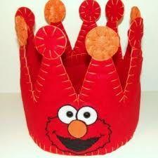 Elmo birthday crown