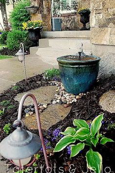 Recirculating Ceramic Pot Fountain countryliving