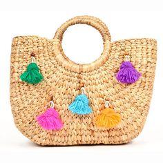 Beach Basket Mini Tassel
