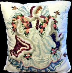 Checkout this amazing product Gordon Angel Needleart Beaded CrewelEmbroidery Pillow Barbara Ann at Shopintoit