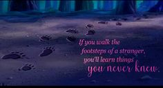 Footsteps are stories...