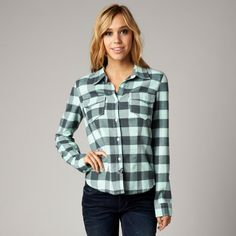Fox Compass Flannel - Mint