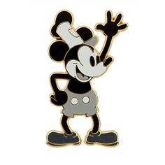 Mickey Mouse Pin - Steamboat Willie | Pins (Individual) | Disney Store | $7.95