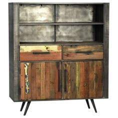 Leeds Cabinet at Smart - nicelyblended indust/midmod/artisan....like it! $2000.00. For 1700 they take off the upper cabinet doors.