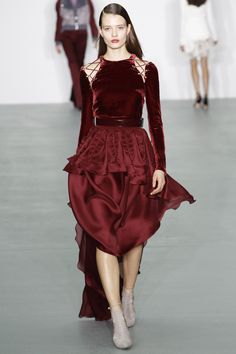 Antonio Berardi Fall 2016 Ready-to-Wear Fashion Show - One of the amazing looks from him, the whole collection features tons of details but not a lot of color, which is appealing.
