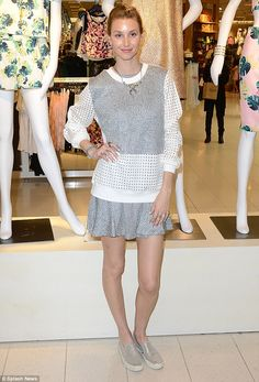 Her own best model! Whitey Port showed off her Spring 2015 Whitney Eve Collection at Nords...