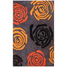 Dynamic Rugs Hand-tufted Symphony Floral Rug (8' x 11') (Symphony 8' x 11' Floral Rug), Grey, Size 8' x 11'