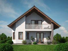Pavla 9 | Ekonomické stavby House Front Design, House Design Photos, Roof Design, Modern House Design, Modern Bungalow House, Modern House Plans, Small House Plans, Property Design, Storey Homes