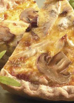 Tarte de Frango com Cogumelos Fast Dinners, Custo, Canapes, Frittata, Hawaiian Pizza, Light Recipes, Lasagna, Recipies, Brunch