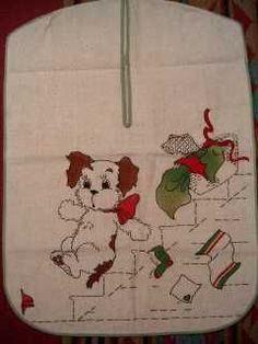 vintage doggy laundry bag