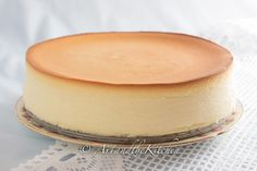 Tall and Creamy New York Cheesecake. I like that it doesn't have any crust.