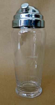 Vintage Martini Shaker Etched Glass Goose Flying Geese Art Deco Mid-century on Etsy, $22.00