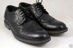 JOSEPH-ABBOUD-Black-Leather-Dress-Shoes-Wingtips-Size-8-M