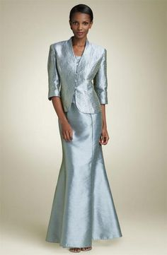 ralph lauren evening gowns for mother of the bride | Picture of Light blue Alex Evenings Mermaid Gown w/ Jacket