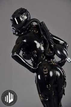 """hypnoteased: """"my thing. Rubber Catsuit, Fishnet Dress, Latex Suit, Mask Girl, Tattoo Skin, Heavy Rubber, Fetish Fashion, Layered Look, Black Leather"""