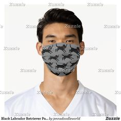 Black Labrador Retriever Pattern   Lab Lover's Adult Cloth Face Mask Black Labrador Retriever, How To Protect Yourself, Shape Of You, Health And Safety, Sensitive Skin, Face, Pattern, Clothes, Beauty