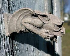 Worrywart Gargoyle gothic waterspout medieval by CastShadows