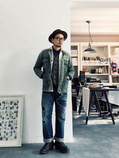 VISVIMのミリタリージャケットを使ったCHRISのコーディネートです。WEARはモデル・俳優・ショップスタッフなどの着こなしをチェックできるファッションコーディネートサイトです。