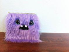Lavender Monster Wallet Two Turquoise Eyes by ShopGhoulieGirls, $24.00