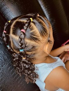 Side Curly Hairstyles, Hairstyles For Receding Hairline, Cute Toddler Hairstyles, Lil Girl Hairstyles, Black Kids Hairstyles, Natural Hairstyles For Kids, Kids Braided Hairstyles, Baddie Hairstyles, Updo Curly