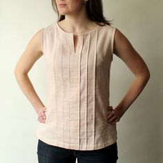 Josephine Blouse & Tunic Sewing Pattern - Made By Rae I think I could use the Sorbetto plus S1430 cutout