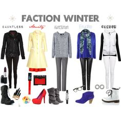 Faction winter. But abnegation would never wear those boots. To flashy. But good job having no jewelry for stiffs but the watch!