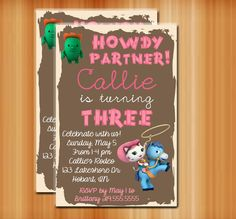 Sheriff Callie's Wild West Birthday by PrettyLittleEvents on Etsy, $10.00