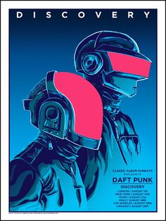 Tim Doyle Daft Punk Posters For Classic Album Sundays Release... #Arsetculture #Inside_the_Rock_Poster_Frame #Gig_Posters