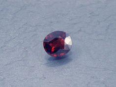 Spinel: 0.55ct Red Oval Shape Gemstone Natural Hand by MJGEMSTONES