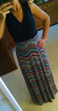 I got this dress too!! Gilli taj maxi dress from Stitch Fix. So comfy and figure flattering! Love it!