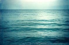 "Large Ocean Art - sea canvas gallery wrap dark blue beach teal aqua turquoise water photography seascape nautical decor, ""I Go to the Sea"""