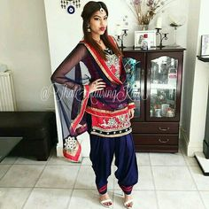 Punjabi Suit. #salwarkameez #salwarsuit #indianfashion #punjabisuit. For More Follow Pinterest : @reetk516