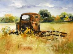 Old West Texas Truck, painting by artist Kay Smith