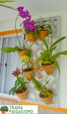Paisagismo em Apartamentos: treliça com orquídeas #paisagismosp #paisagismo #paisagismoemapartamento #orquideas #jardim #colorido #natureza #verdeemcasa